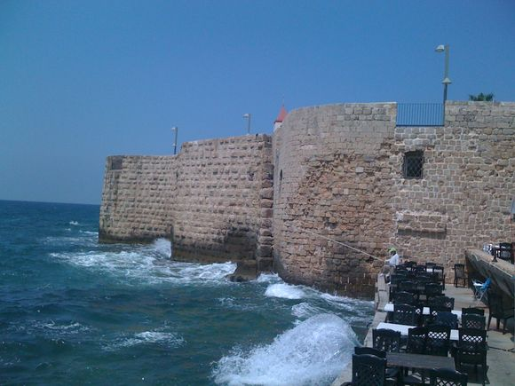 Israel: Fisherman in Akko, one of the oldest sea ports in the world.