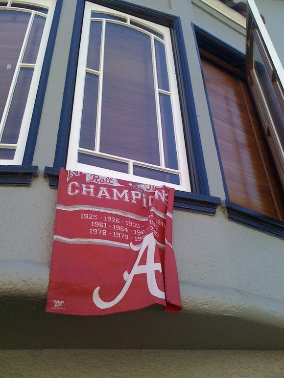 SF, CA: Seen on Jefferson, one block from the Marina. Roll. Tide.